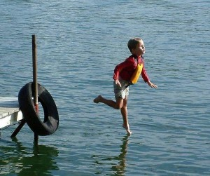 Andando na água